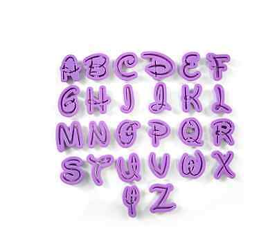 ALPHABET DISNEY FONT COOKIE CUTTER SET FONDANT MOLD  ()