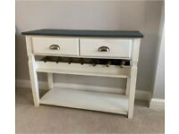 White & Grey Sideboard with Wine Rack