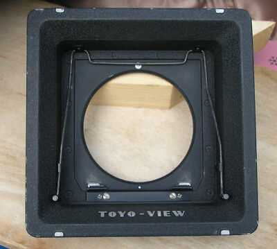 linhof IV V 5x4 toToyo recessed 40mm monorail 5x4 10 x 8 fit adapter lens board