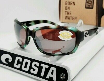 COSTA DEL MAR seagrass/silver mirror ISABELA POLARIZED 580P sunglasses! (Costa Isabela)