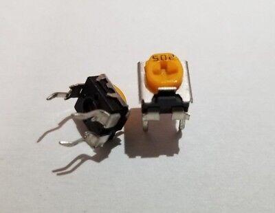 20 Pcs 502 500k Ohm Linear Potentiometer Variable Resistor Panasonic 502