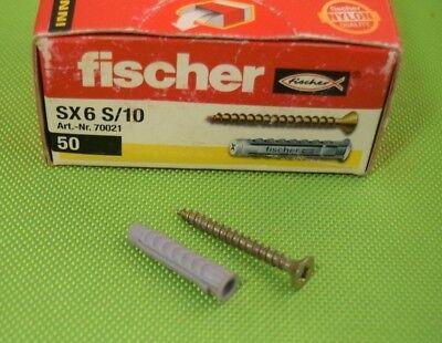 50 Stück Fischer Spreizdübel SX 6 x 30 S/10 --- 070021 (988)