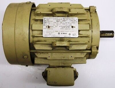 GENERAL ELECTRIC MOTOR ENERGY SAVER 5KS184QPA8JA4D9, 1.5 HP, 865 RPM, E9873