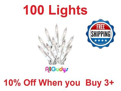 (100 Clear White Christmas Wedding Mini Lights String Strand Indoor Outdoor 22 FT)