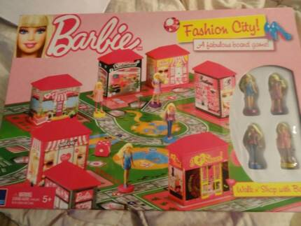 Barbie Fashion City Board Game - Never Used Epping Ryde Area Preview