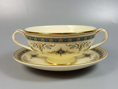 MINTON GRASMERE CREAM SOUP COUPE / CUP AND SAUCER (PERFECT) Cream Soup Cup