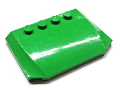 1x LEGO® Motorhaube grün leuchtgrün 4x6x2/3 Platte Dach Autohaube Autodach K88