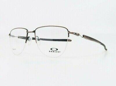 Oakley Men Round Semi-Rim Aviator Plier Satin Toast Glasses OX 5142-03 54mm (Oakley Reading Glasses Men)