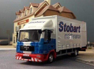 Model Stobart Truck MAN TGL F1521 Box Van Maintenance Lorry 1:76 Scale OO/00
