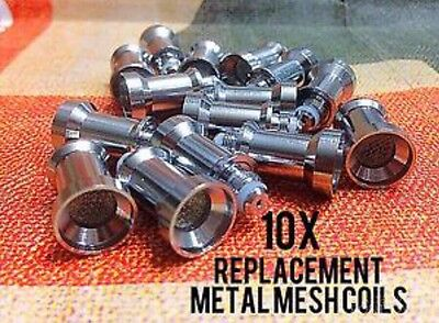 10 Replacement Metal Mesh Ceramic Coils For Glass Globe Atomizer Globes