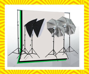 Photo Video Studio Lighting Kit with 2 Umbrella, 2 Softboxes