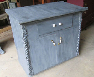 Fabulous Grey Vintage Kitchen Island or Storage Cupboard