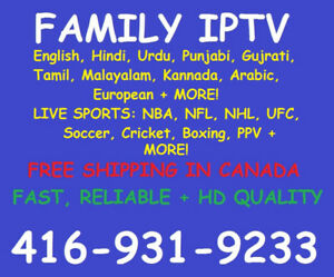 IPTV! #1 in Brampton+Mississauga! Contact today for PROMO PRICE