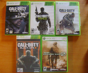 Call of Duty, GTA V , XBOX 360