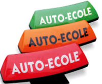 Driving courses on examition area