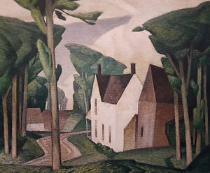 "A.J. Casson ""Village House Dark Green"" Litho appraised at $1000"
