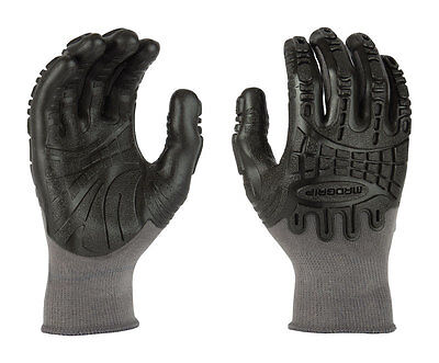 Madgrip Thunderdome Unisex Rubber Coated Work Gloves Black M