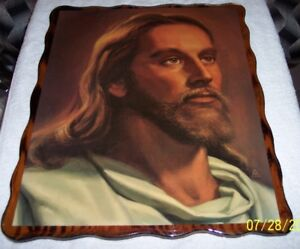 Assorted Religious Wood Plaques & Frames of Jesus $120