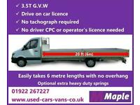 Mercedes Sprinter 313Cdi 3.5t. 20ft (6M.) ***EXTRA LONG *** Dropside Body, Clean