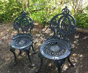 Antique Garden Chairs - Cast Iron