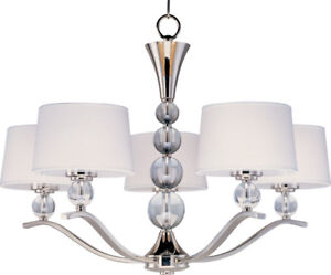 Chandelier in chrome, 5 light