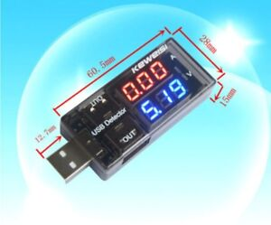 USB AVOMETER Voltage Current Meter Charger/Battery Tester