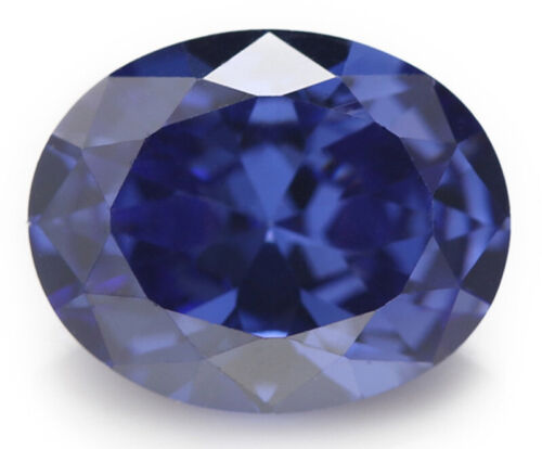 Natural Oval Blue Sapphire 2.53ct 7x9mm Faceted Cut AAAAA VVS Loose Gemstone