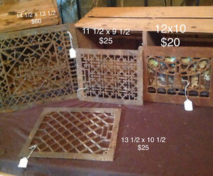 Cast iron floor and wall grates London Ontario image 2