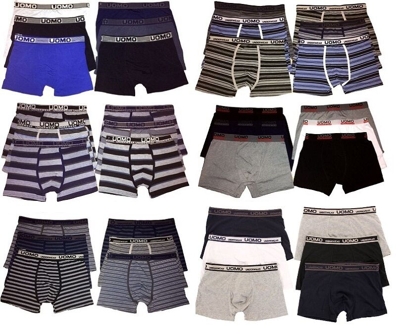 6 Mens Boxer Briefs Underwear Stretch Fashion Trunk Short Bulge Lot Knocker