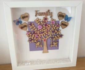 Family Tree Box Frames Made to order