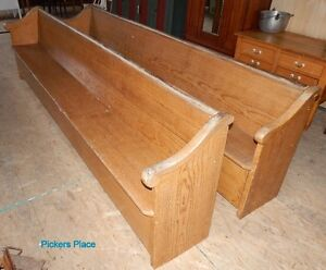 2 Matching Church Pews Peterborough Peterborough Area image 1