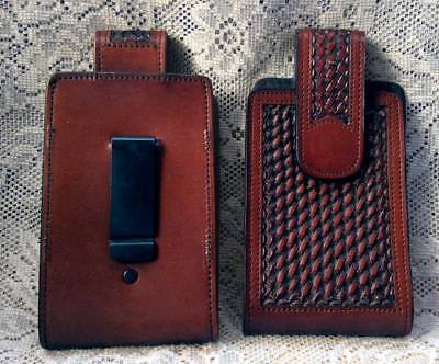 - Western Cowboy/Cowgirl Hand Tooled Leather Cell Phone Case
