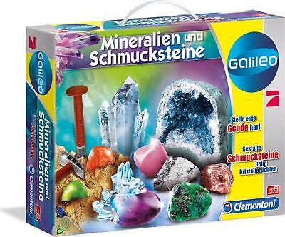 Clementoni 59005 Galileo - Ausgrabungsset Mineralogie und Kristalle