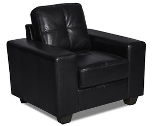 Leather-look Fabric Sofa Chair For Sale