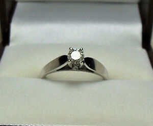 """14kt white gold .50 ct  - Solitaire """"Diamond Engagement"""" Ring"""
