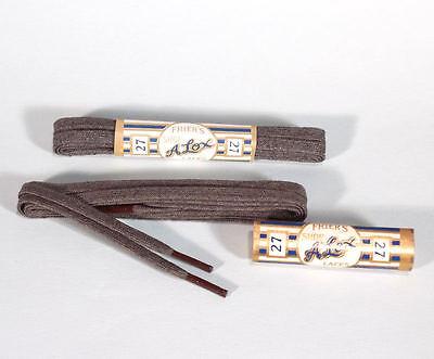 2 Pair Vintage 1920s Mens 27 inch Brown Shoe Laces NOS Alox Mfg - Mens 1920 Shoes