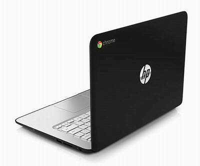 "HP Chromebook laptop 14"" Black 16GB SSD 4GB  HDMI Usb 3  WiFi webcam Chrome OS"