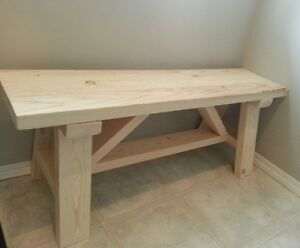BENCHES FOR SALE. HANDMADE. RUSTIC. FARMHOUSE STYLE