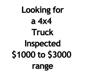 Looking for truck with 4x4