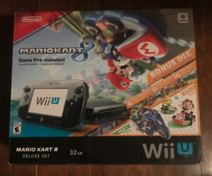 Wii U MarioKart 8 Deluxe Set + extra dual analog wireless remote