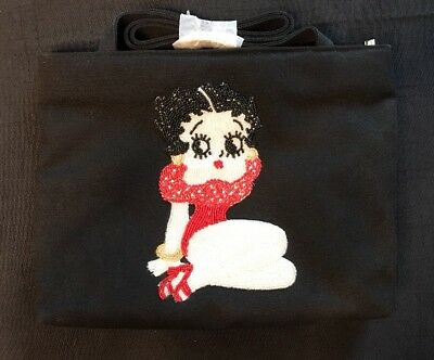 Betty Boop Beaded Black Canvas Handbag ~Purse~Bag