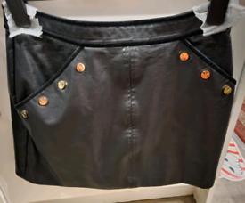 Lipsy leather skirt size 10
