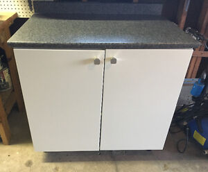 Kitchen Cabinet/Storage Cabinet with Laminate Counter Top