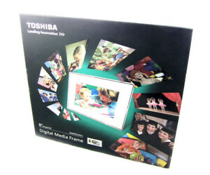 "Toshiba 8"" wi-fi Digital Picture frame w/ Speakers & Remote"