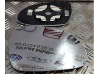 VW Passat B6 2005-2010 OFF Side Clip On Heated Wing Door Mirror Spherical Glass