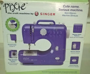 Singer Pixie The Craft Sewing Machine Purple Includes Foot Pedal