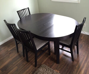 Like New Condition! IKEA Table, 4 Chairs, and Bench