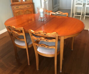 Beautiful Dining room Table with Chairs, corner hutch & cabinet