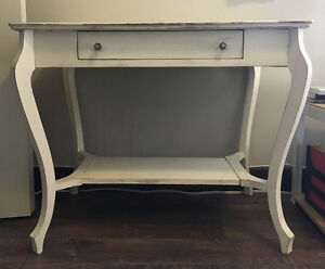 Antique White French Country Desk