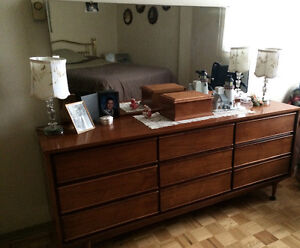 Two wood dressers